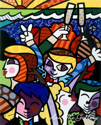 romero britto art. Romero Britto- Celebration